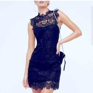 Free People Eyelash Lace Backless Dress